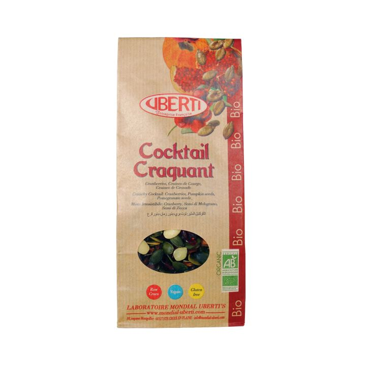 Cocktail craquant (Cranberries, graines de courges et graines de grenade) - 200g
